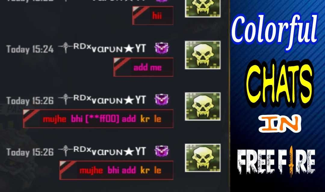 Codes For Colorful Chats In Free Fire New Tricks Hex Color Codes Color
