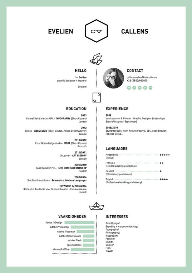20-creative-resumes-callens Resume Pinterest Creative - updated resume