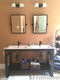 Industrial Metal Bathroom Vanity Made Locally By Kb Furnishings Vanity Modern Industrial Metal Shelves