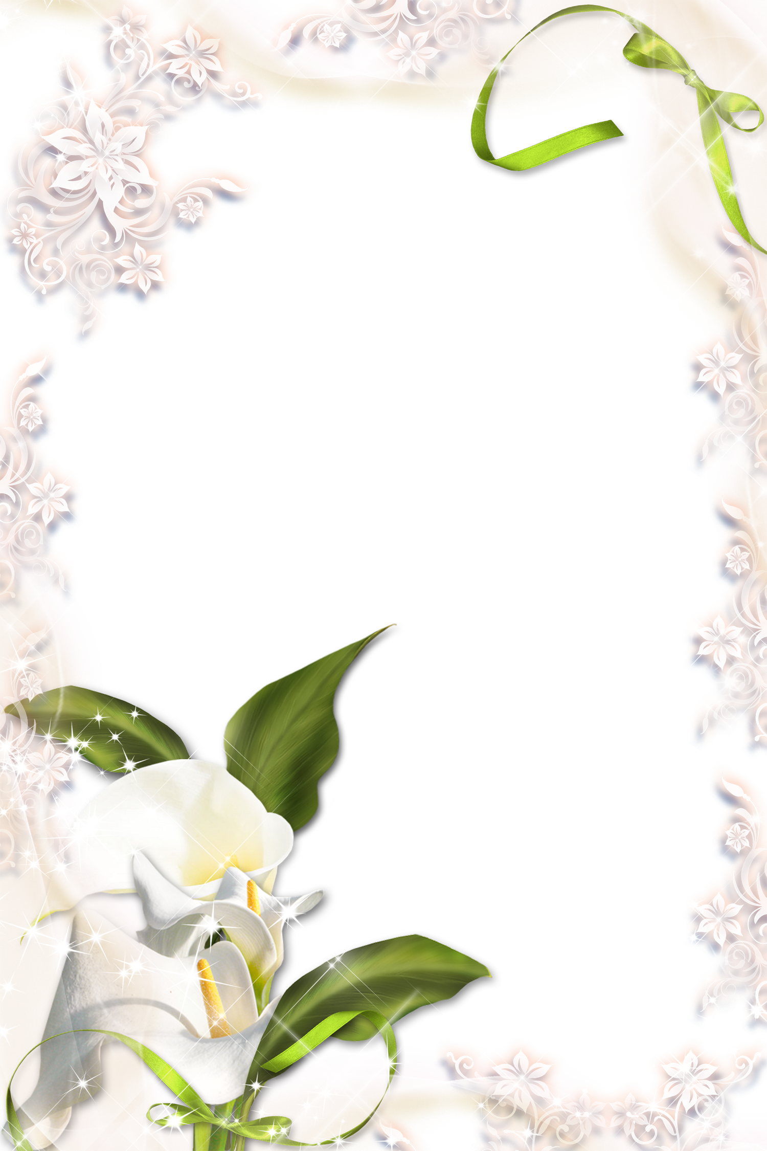Pin By Yvonne Jeanson On Clipart Borders Png Photo Calla Lily Frame