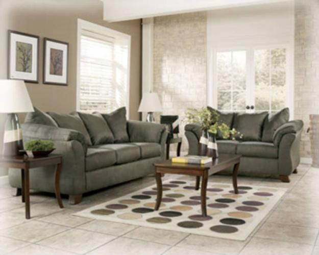 Sage Green Sofa And Loveseat With Khaki Walls Maybe I Can Make My Living RoomLiving Room ColorsLiving