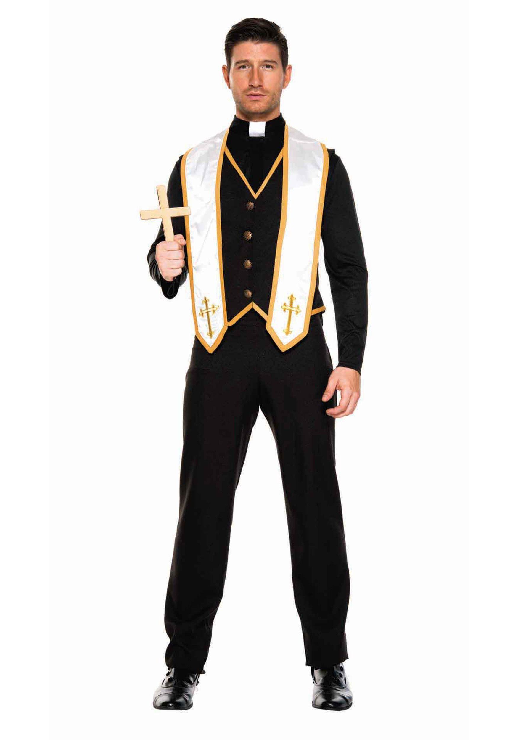182645f8f7595d Plus Size Men's Bad Habit Priest Costume | Halloween in 2019 ...