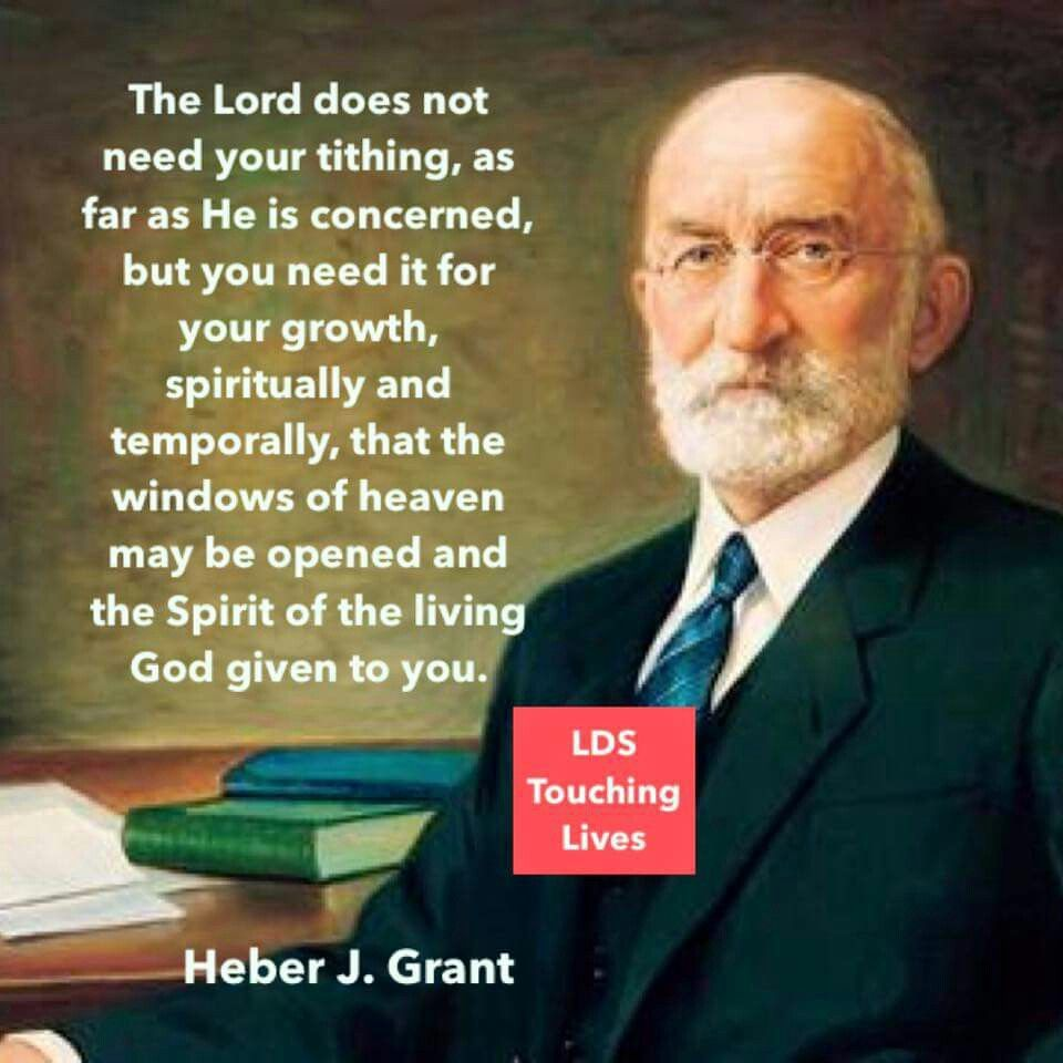 Law of Tithing | LDS | Church quotes, Lds quotes, Lds talks