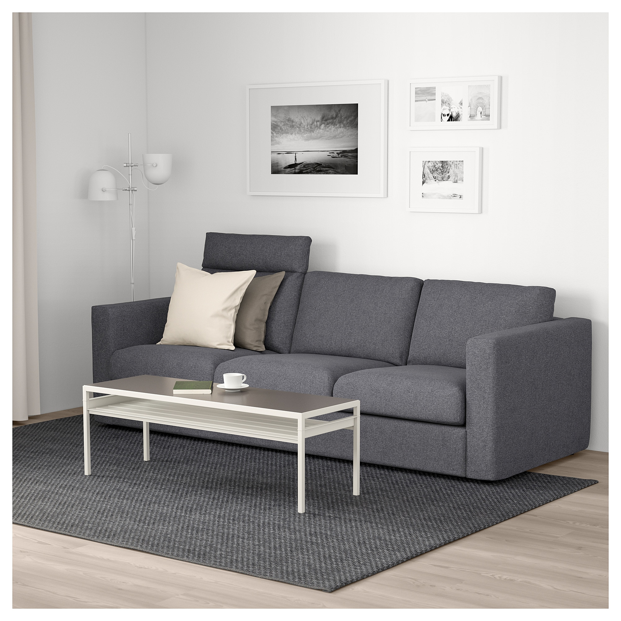 Ikea Vimle Sofa With Headrest Gunnared Medium Gray In 2019