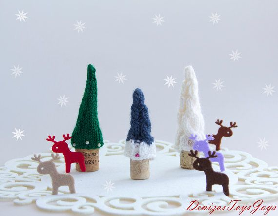 Fairy Forest Christmas Trees Set Of 3 Pine Trees Christmas