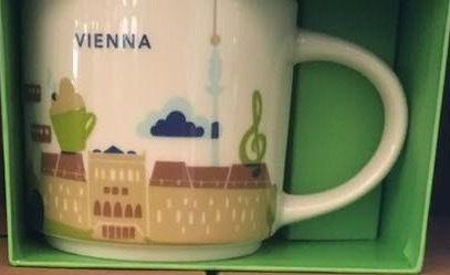 Starbucks City Mug Cup You are here Series YAH Vienna Austria 14oz NEW