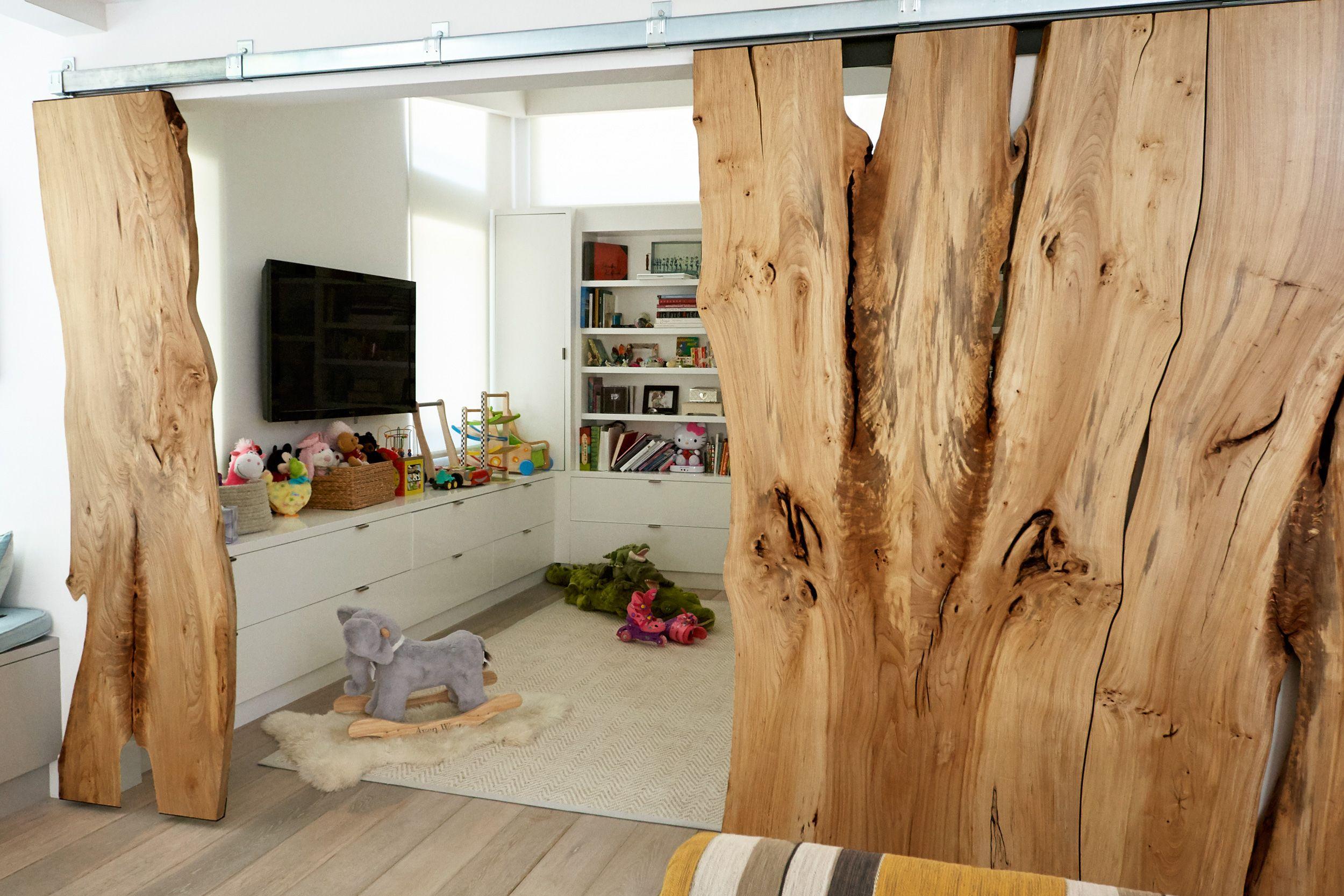 Custom American Elm Barn Doors In Finished Application