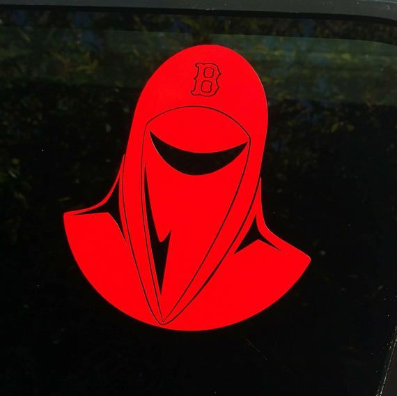 Red Sox Imperial Guard Decal Diecut Vinyl Sticker Star Wars - Custom vinyl decals boston
