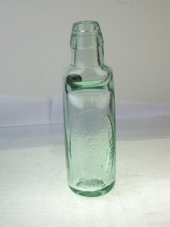 Old Glass Bottle Codd Bulb Neck Patent Green Marble Birmingham Old Glass Bottles Glass Bottles Bottle