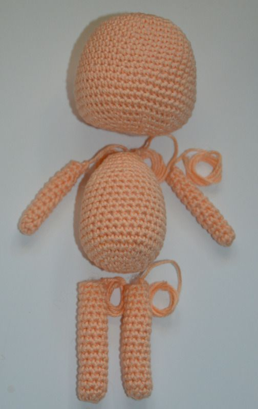Amigurumi Lessons – Creating simple doll | тильда | Pinterest ...
