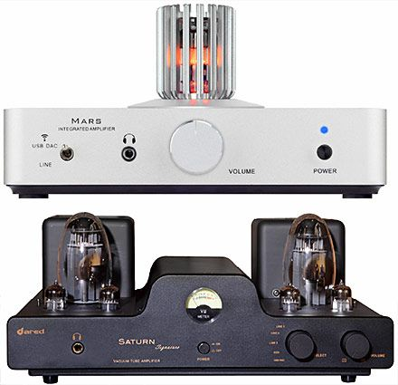 Dared is showcasing their new Mars hybrid vacuum tube amplifier
