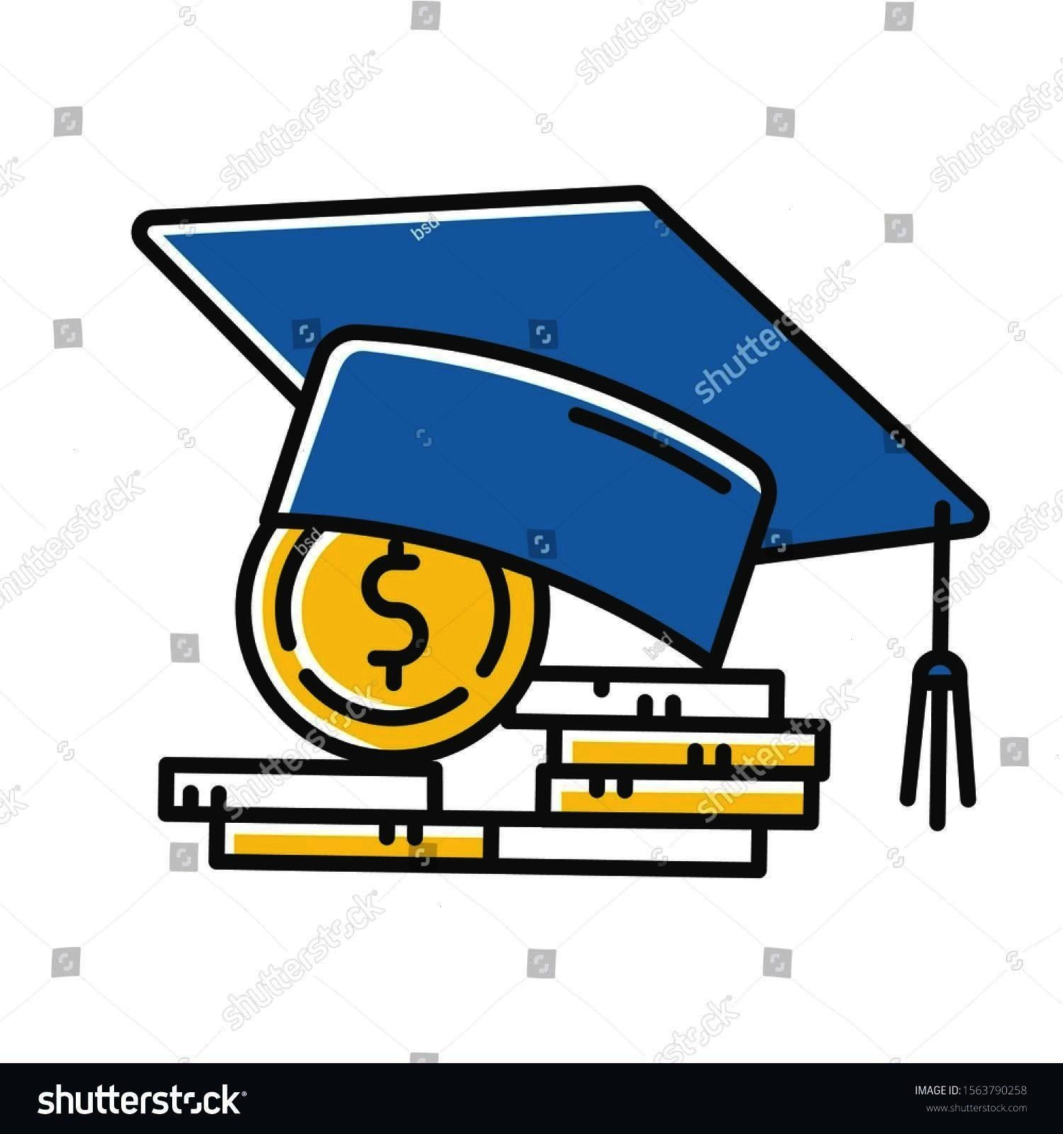 icon Credit to pay for university education Tuition fee Co Student loan color icon Credit to pay for university education Tuition fee College scolarship Graduation hat co...