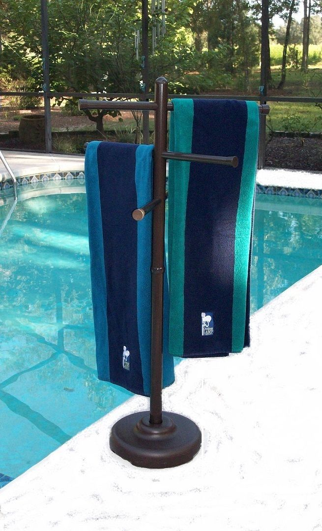 Details About Outdoor Portable Towel Holder Rack Pool