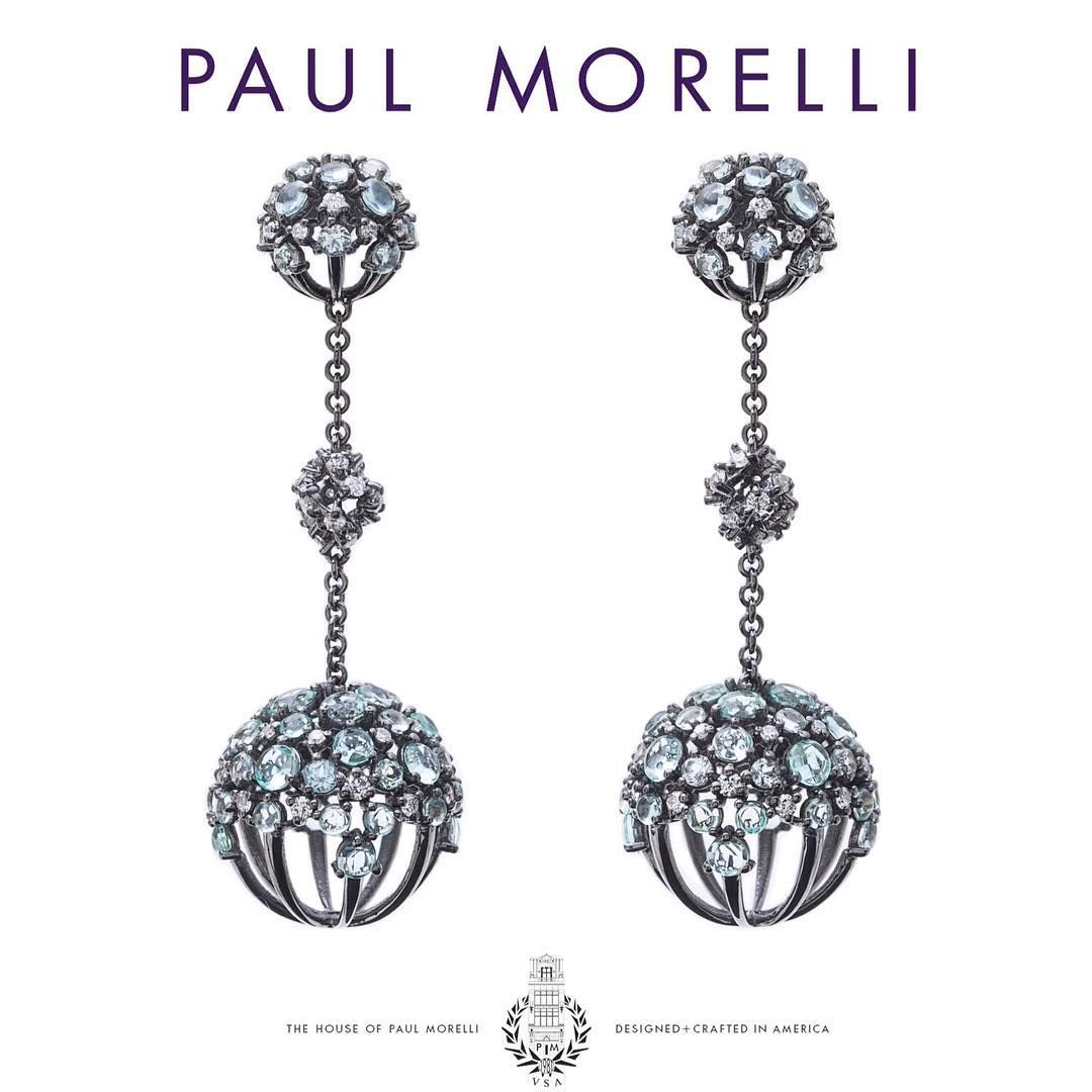 Good night  #paulmorelli #houseofpaulmorelli #designandcraftedinamerica #fashion #art #jewelry #luxury #details #handmade #gold #lagrange #aquamarine #diamonds #earrings #Philadelphia #NewYork #America #real #love