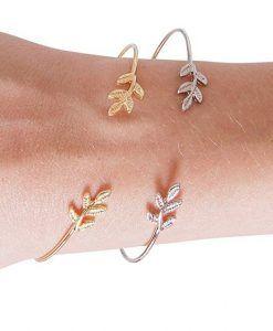Cadeau bijoux femme- Bracelet feuille argent. Bijoux fantaisie pas cher  France 309d384c5c5