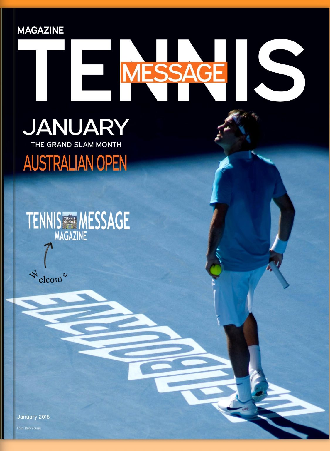 January TennisMessage Magazine cover . Read it for free