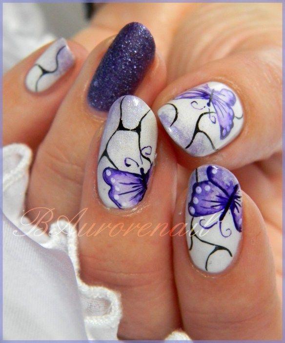 Nail Art Papillon Aquarelle Butterfly Nail Art Nails Sassy