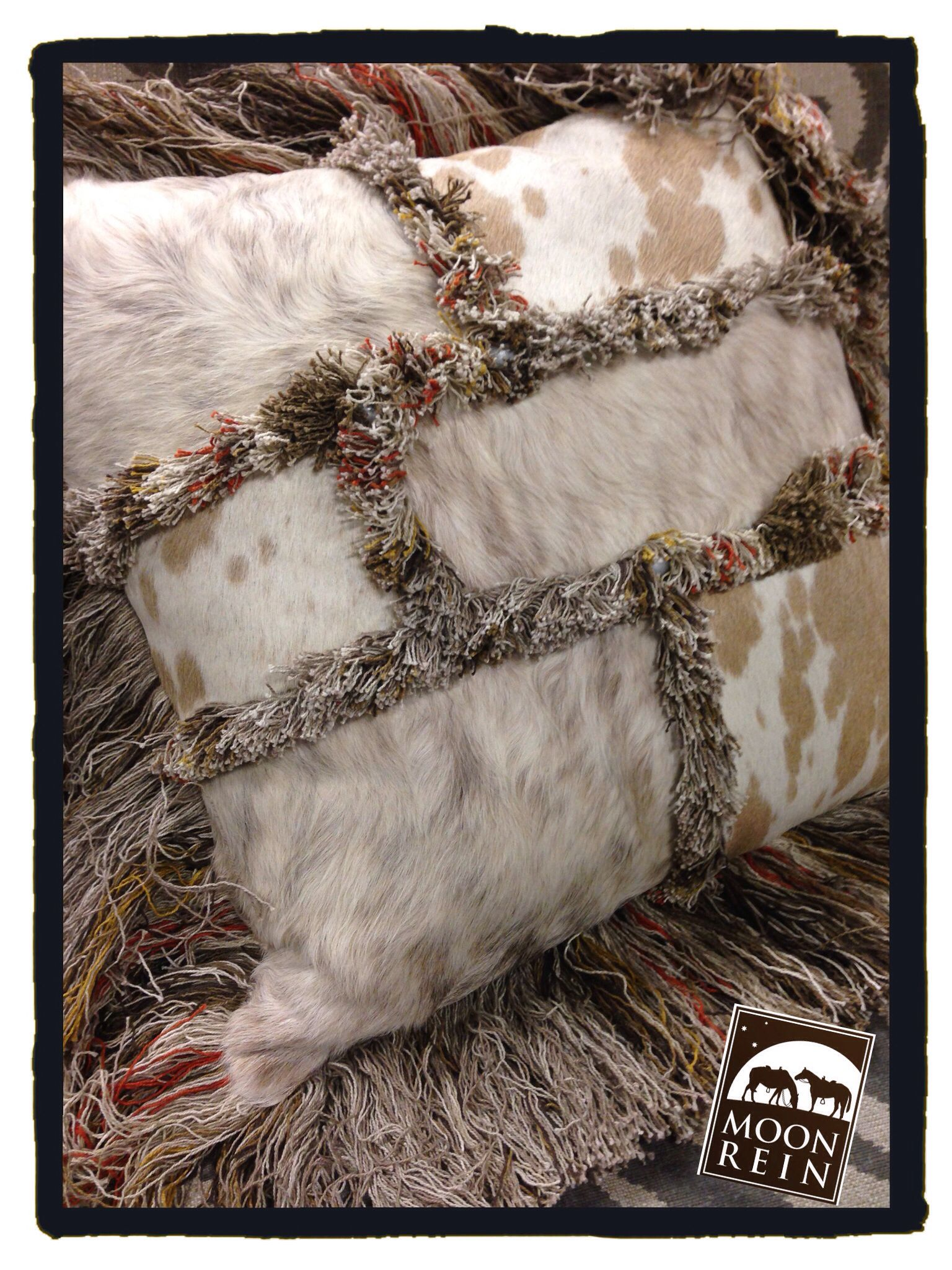 cow hides and handmade trims, western lifestyle, cowgirl chic www.christisinteriors.com