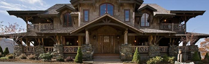 Perfect Luxury Log Home Plans With The Best Design : Rustic Exterior Design  On Luxury Log