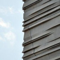 Morphosis Museum Of Nature Science Facade Gate Precast Archpaper Com Nature Museum Precast Concrete Facade Architecture