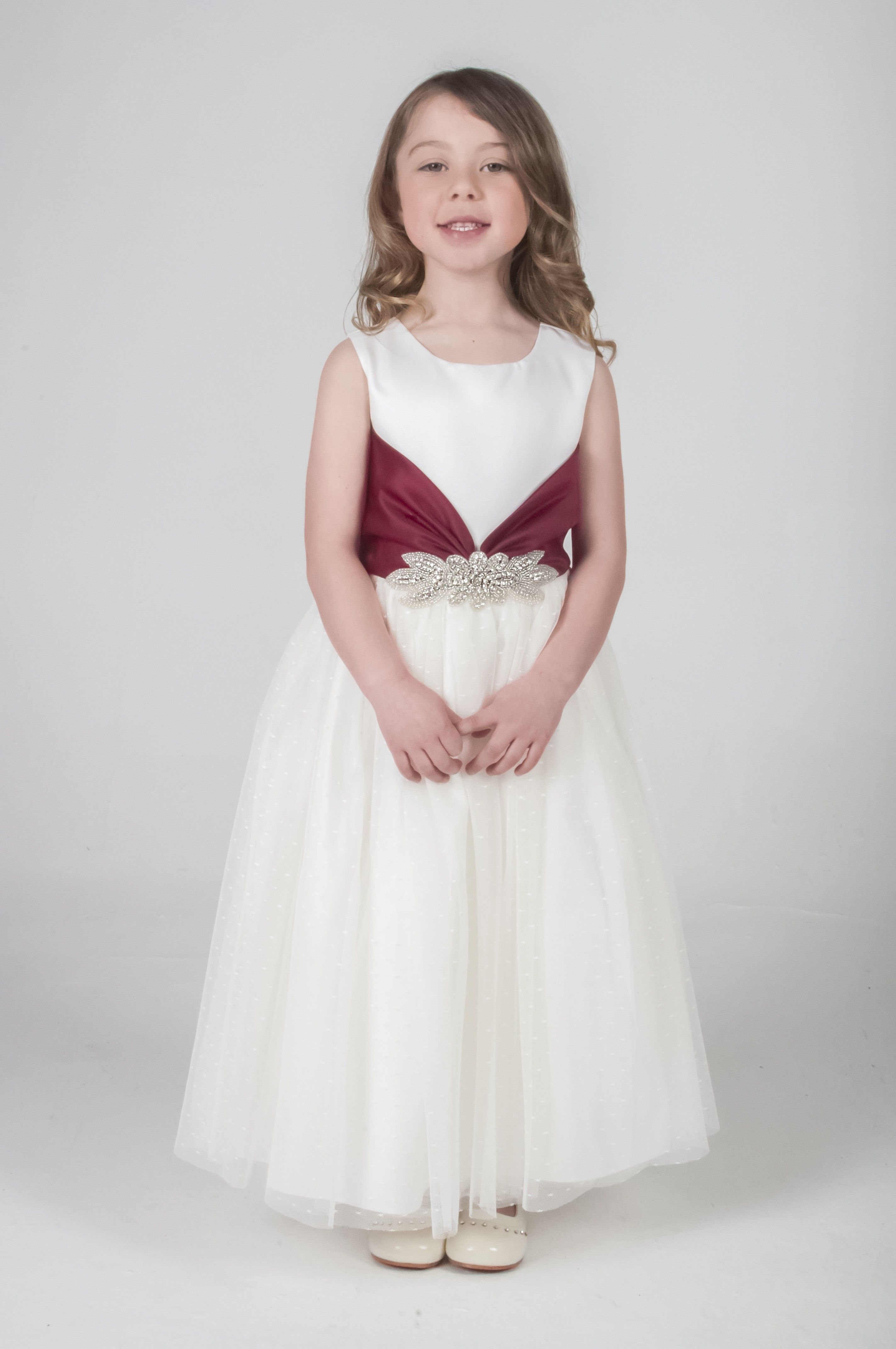 2019 year style- Flower Ivory girl dresses uk pictures