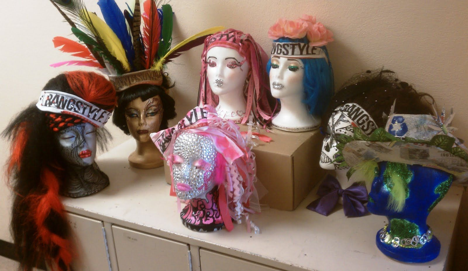 Cosmetology Students Decorate Heads For New Website