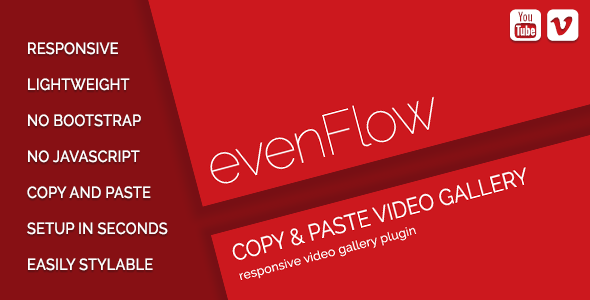 Evenflow Youtube Vimeo Video Gallery Css Css Templates Youtube