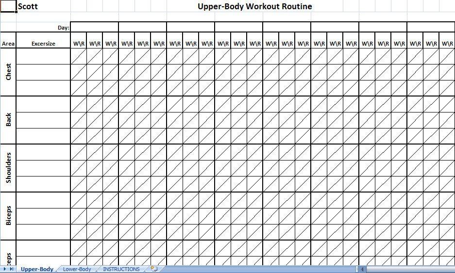 weight training logs templates lexu