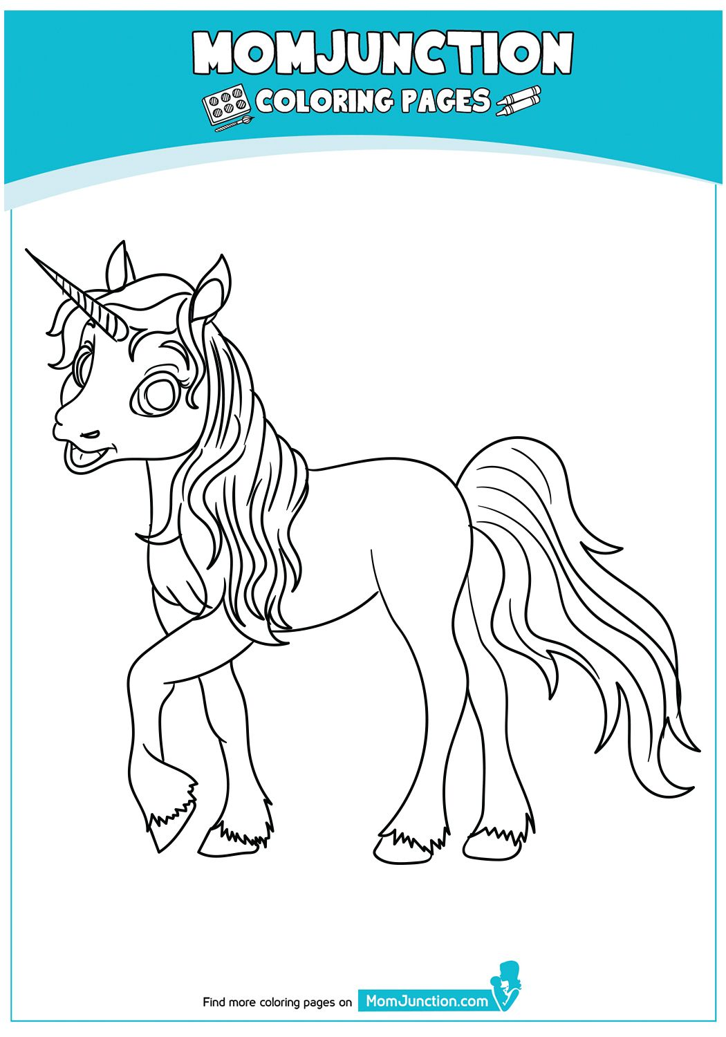 Beautiful Unicorn Head Coloring Page   Coloring pages ...