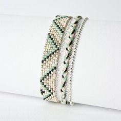 Tisser un bracelet de perle