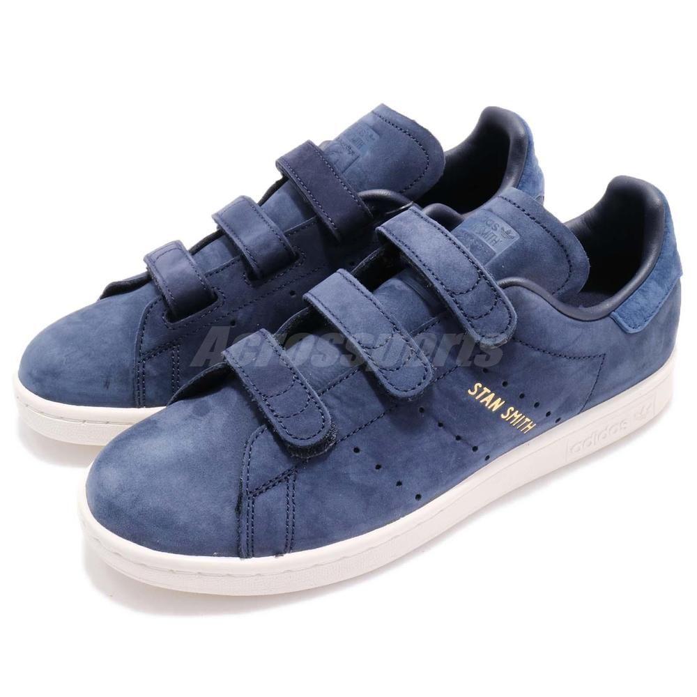 adidas Originals Stan Smith CF W Strap Navy Blue Women Classic Shoes CQ2789 5c36d966d