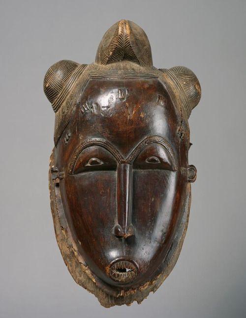 Baule Kpwan Mask, Ivory Coast http://www.imodara.com/item/ivory-coast-baule-goli-entertainment-mask-kpwan-mother/