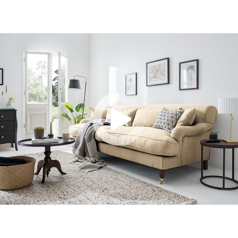 Maison Belfort Sofa Stenum 3 Sitzer Sand Webstoff 237x91x112 Cm Mobel Wohnzimmer Wohnung Wohnzimmer Gemutliches Wohnzimmer