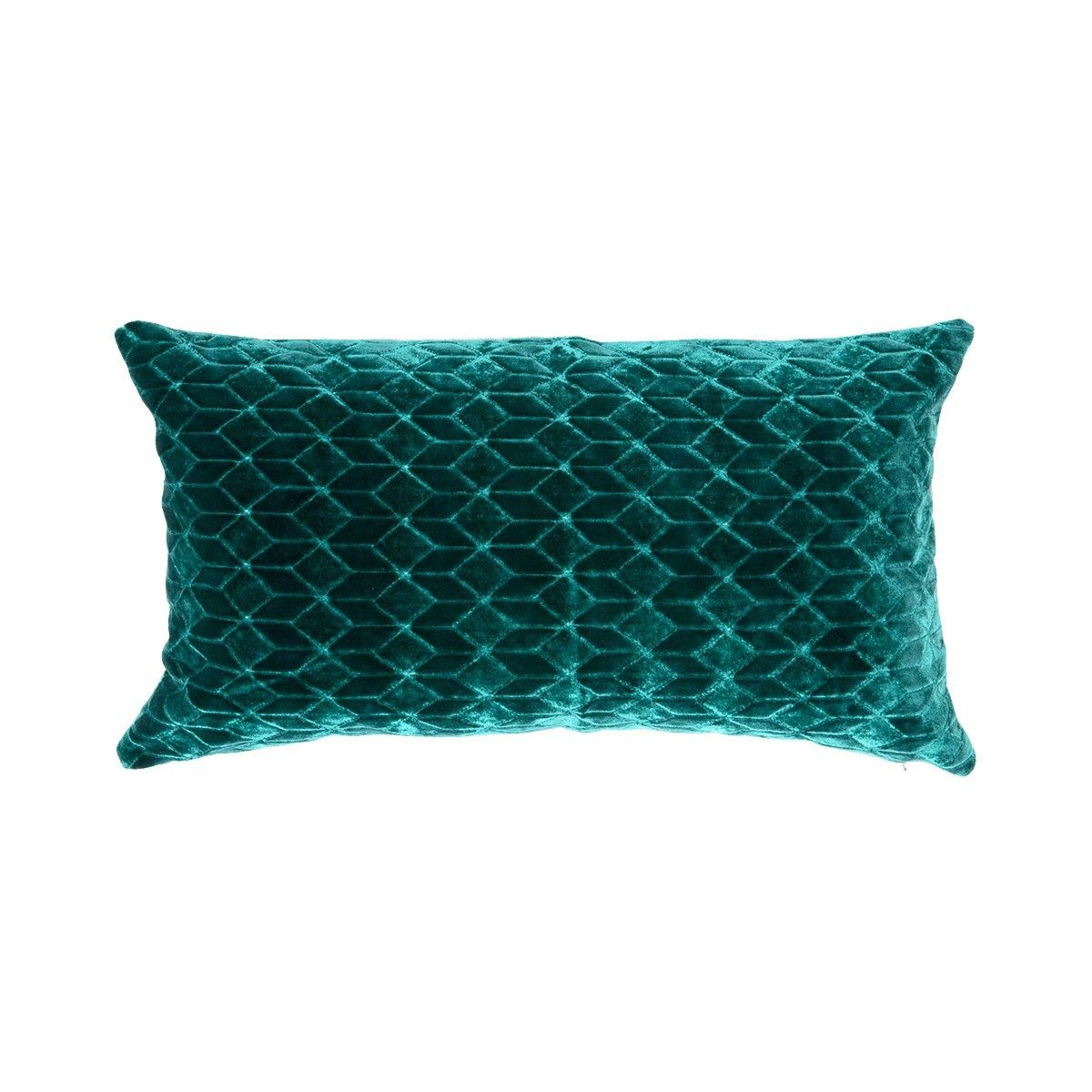 Iosis by yves delorme emerald green rectangular decorative velour