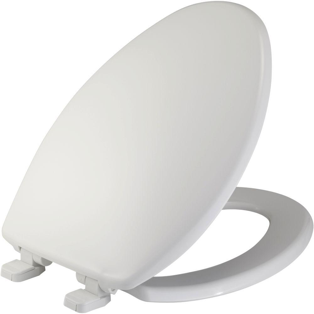 Bemis Just Lift Elongated Closed Front Toilet Seat In White