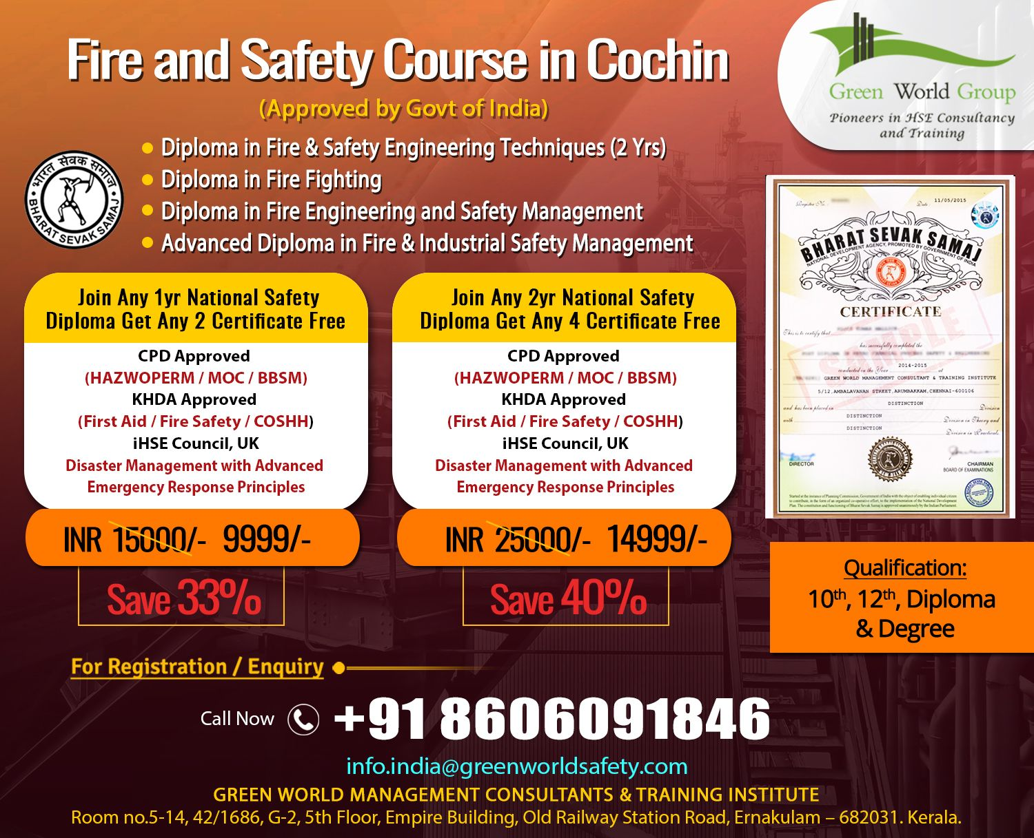 Fire and Safety Course in Kerala Safety courses, Fire
