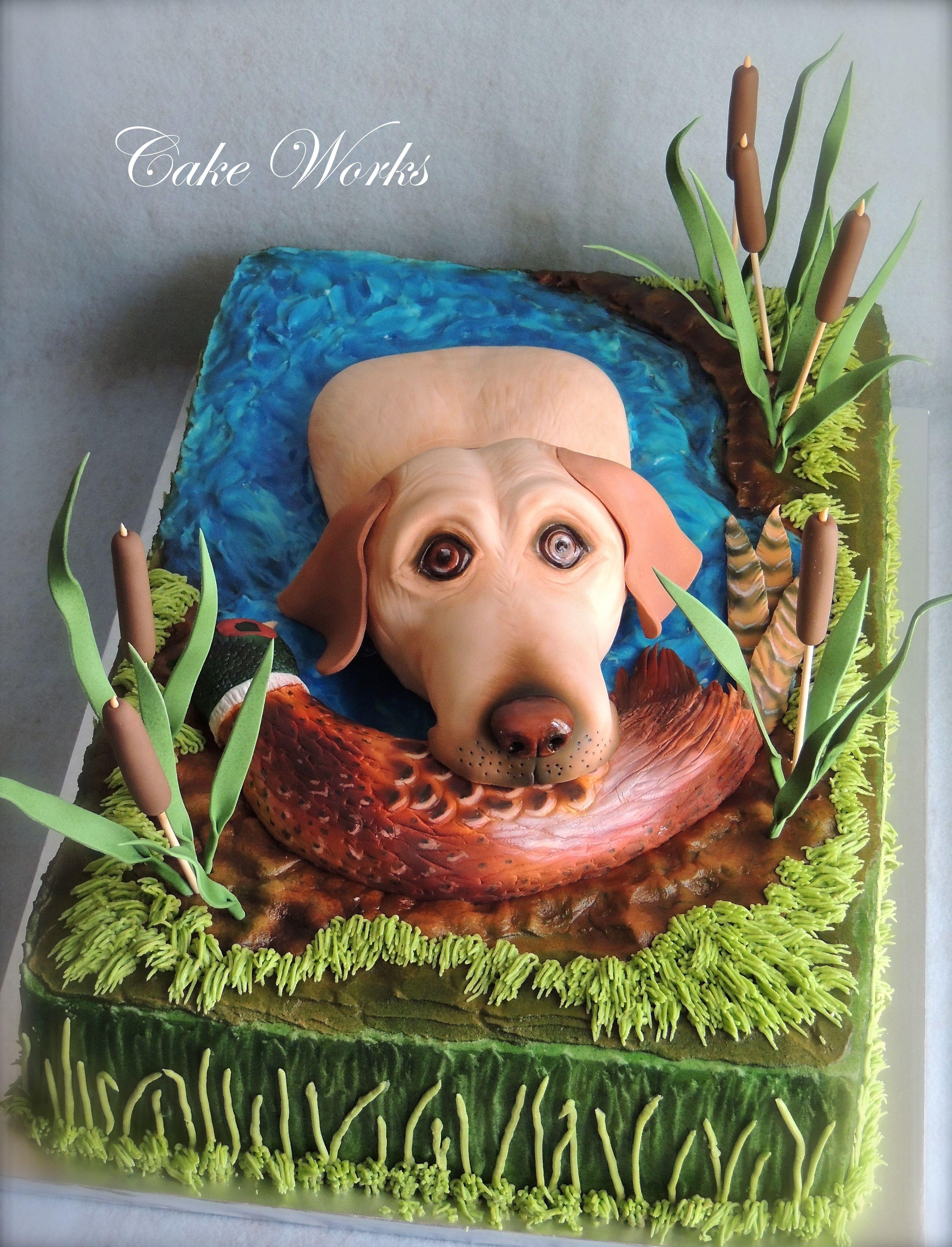 BirdHuntingCakes Hunting Dog Grooms Cake Cakes Pinterest