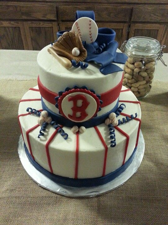 Boston Red Sox Cake Baseball Baby Shower Red Sox Cake