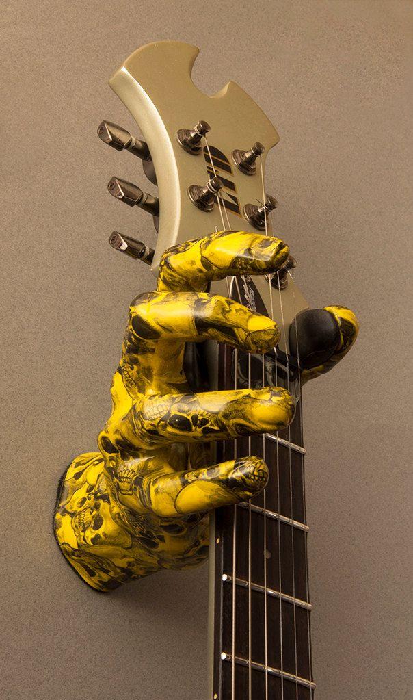 Hand Wall Hangers graphex - male hand guitar hanger/guitar wall mount/guitar grip