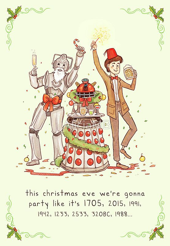 Doctor Who Christmas Cards.12 Christmas Cards Sure To Geek Up Your Holiday Spirit Christmas