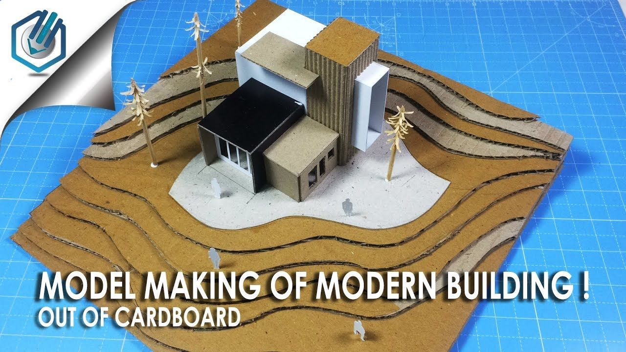 Model making of modern architectural buildingout of cardboard time saving and easy way youtube