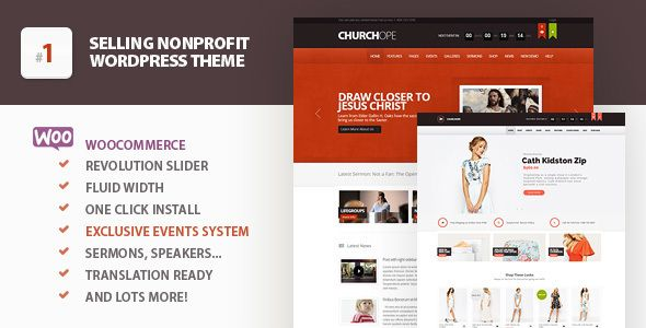 ChurcHope - Responsive WordPress Theme | Pinterest