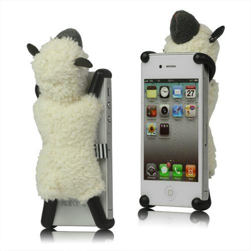 Schattig zacht schaap hoesje voor de iPhone 4/4S. -