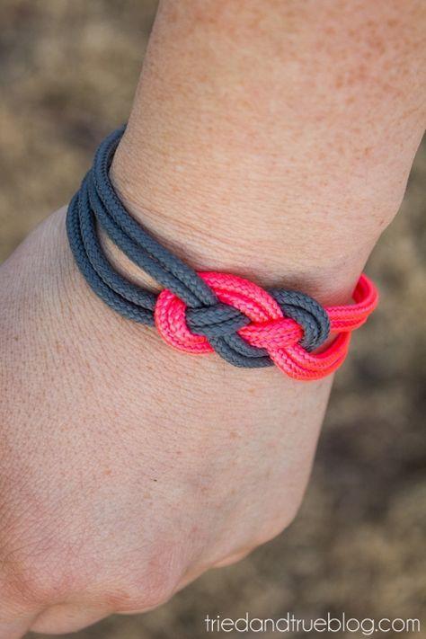 Super Easy Sailor Knot Bracelet for Valentine's Day - Tried & True Creative
