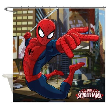 Ultimate Spider Man Shower Curtain By Marvel With Images