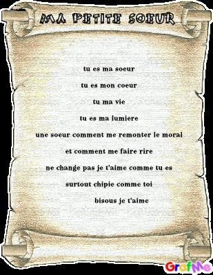 Un Poeme Pour Ma Petite Soeur La Serena Petite Soeur Je T