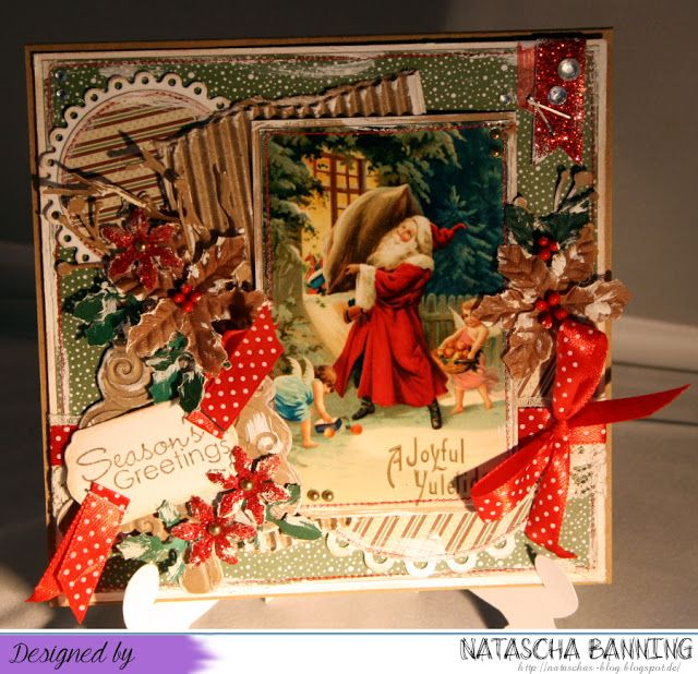 Letzte Weihnachtskarte 2015 mit einem Vintagefoto: http://nataschas-blog.blogspot.de/2016/02/letzte-weihnachtskarte-aus-dem-jahr-2015.html