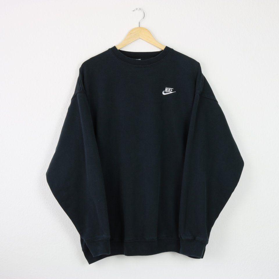 Vintage Faded Black Nike Sweatshirt | Great... - Depop 3