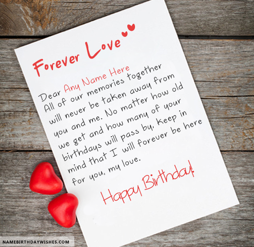 Love Forever Inspirational Birthday Quotes With Name Birthday Wishes For Lover Birthday Wishes With Name Birthday Wishes For Love