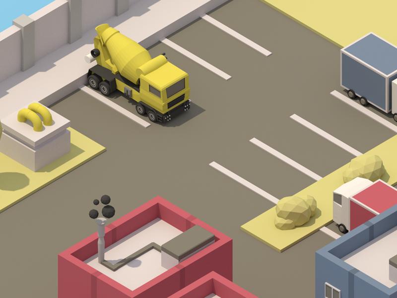 Isometric Parking Lot Isometric Low Poly Art Pixel Art Games